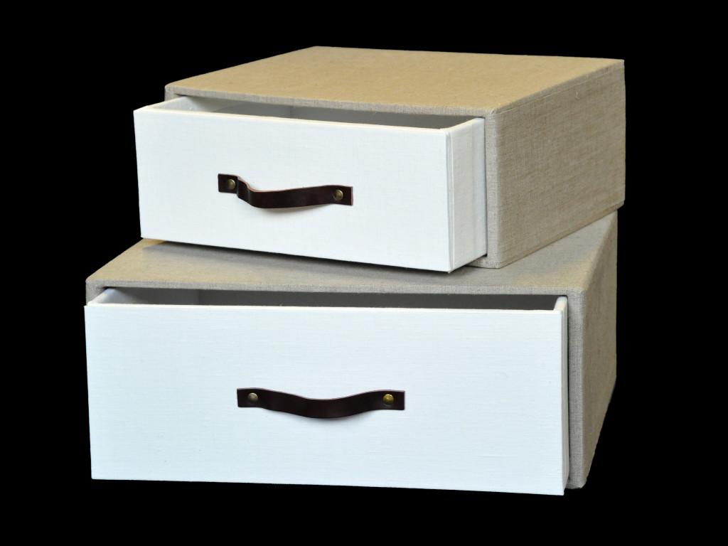 Set scatole cassetto in tessuto interno 22 for Scatole per armadi in tessuto