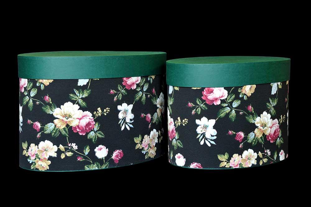 Scatole ovali in tessuto coperchio carta interno 22 for Scatole per armadi in tessuto